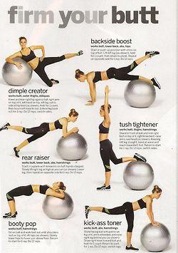 Stability ball butt workout