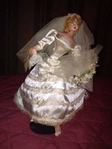 SOLD Vint. Layna,Spain 11' Bride Dancer Souvenir Doll W/Tag! Hand Painted Cloth