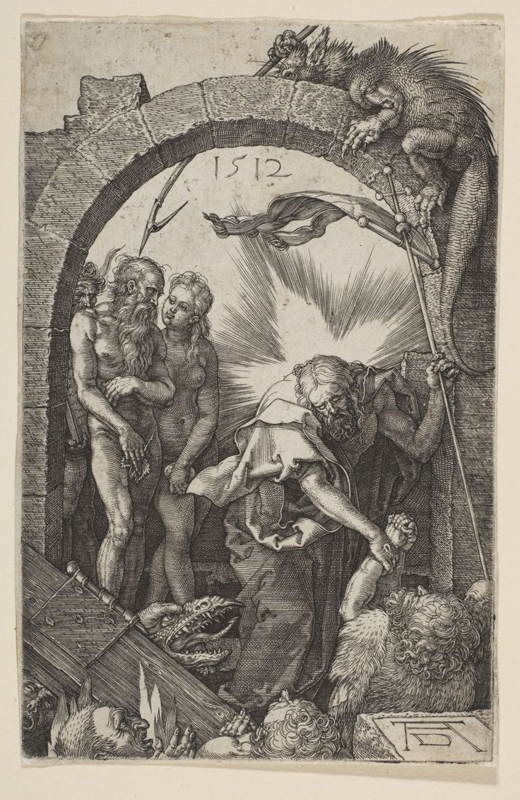 Christ in Limbo, from The Passion (1512) ~ by Albrecht Dürer…
