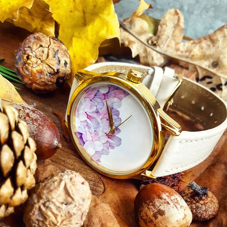 ⌚Feathers Watch - Gold Color Case & Beige Watch band ::::::::: 23.99 USD ::::::::::: ✔Genuine Leather Handmade Watch strap by us!✔