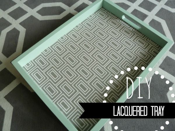 DIY Lacquered Mint Tray