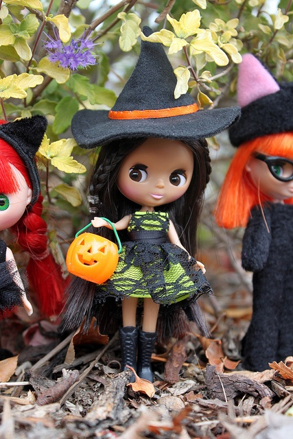 Trick or Treat! - ADAD 298/366 by obsessivelystitching - StitchWhipped, via Flickr ~ Littlest Pet Shop Blythe