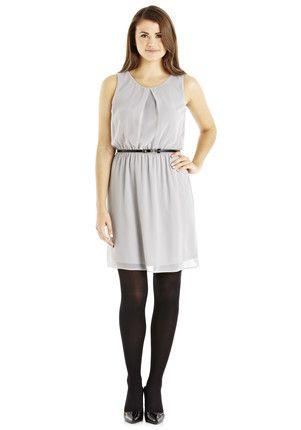 F&F Chiffon Dress with Waist Belt