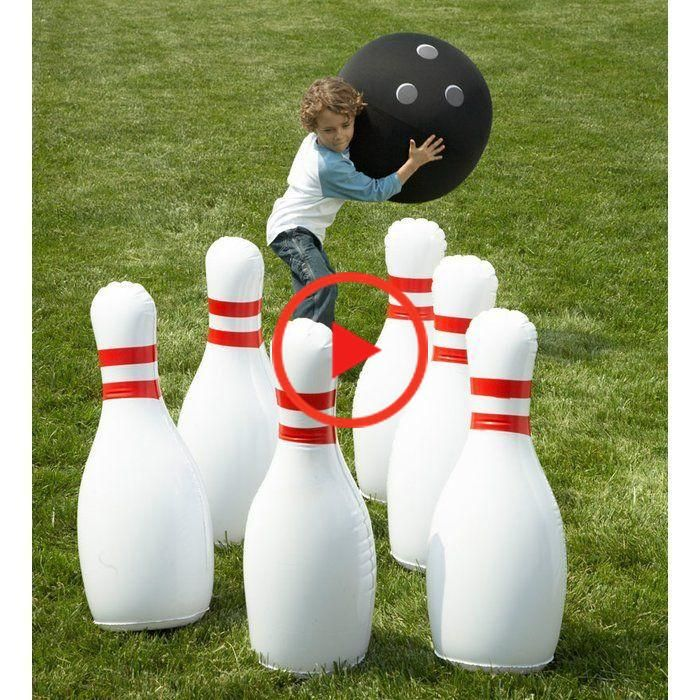 Giant Opblaasbare Bowling Set In 2020 Giant Games Bowling Games Yard Games