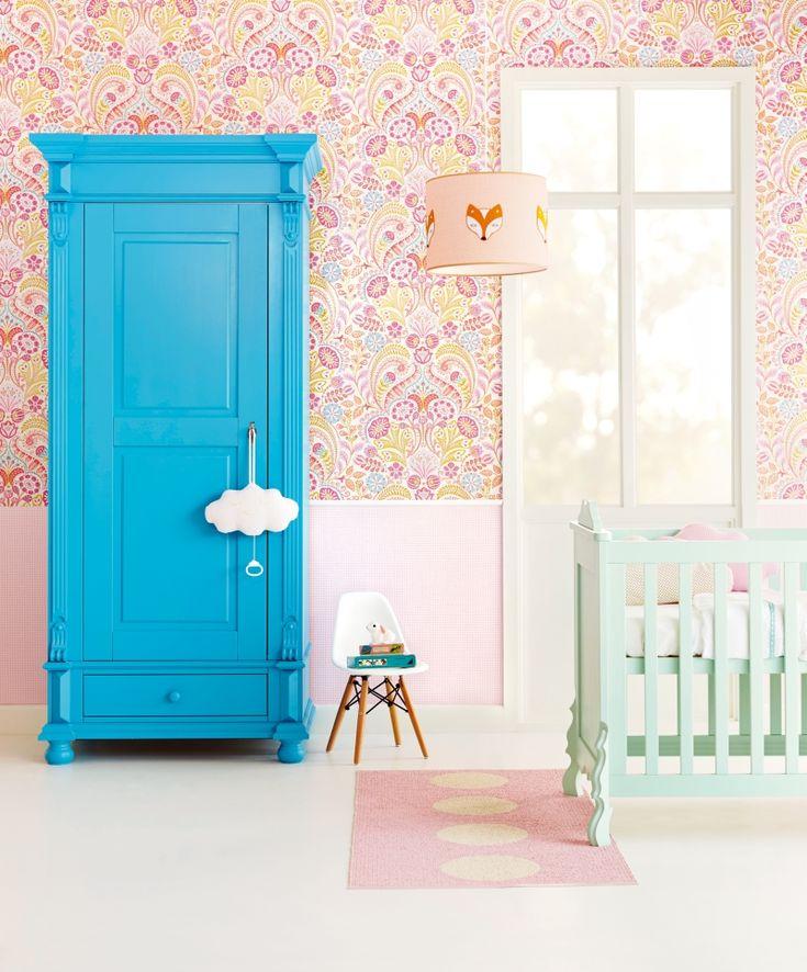 34 besten Kindertapeten für Mädchen Bilder auf Pinterest Kaufen - babyzimmer orange grn
