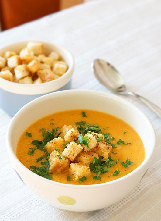 Supă cremă de legume coapte