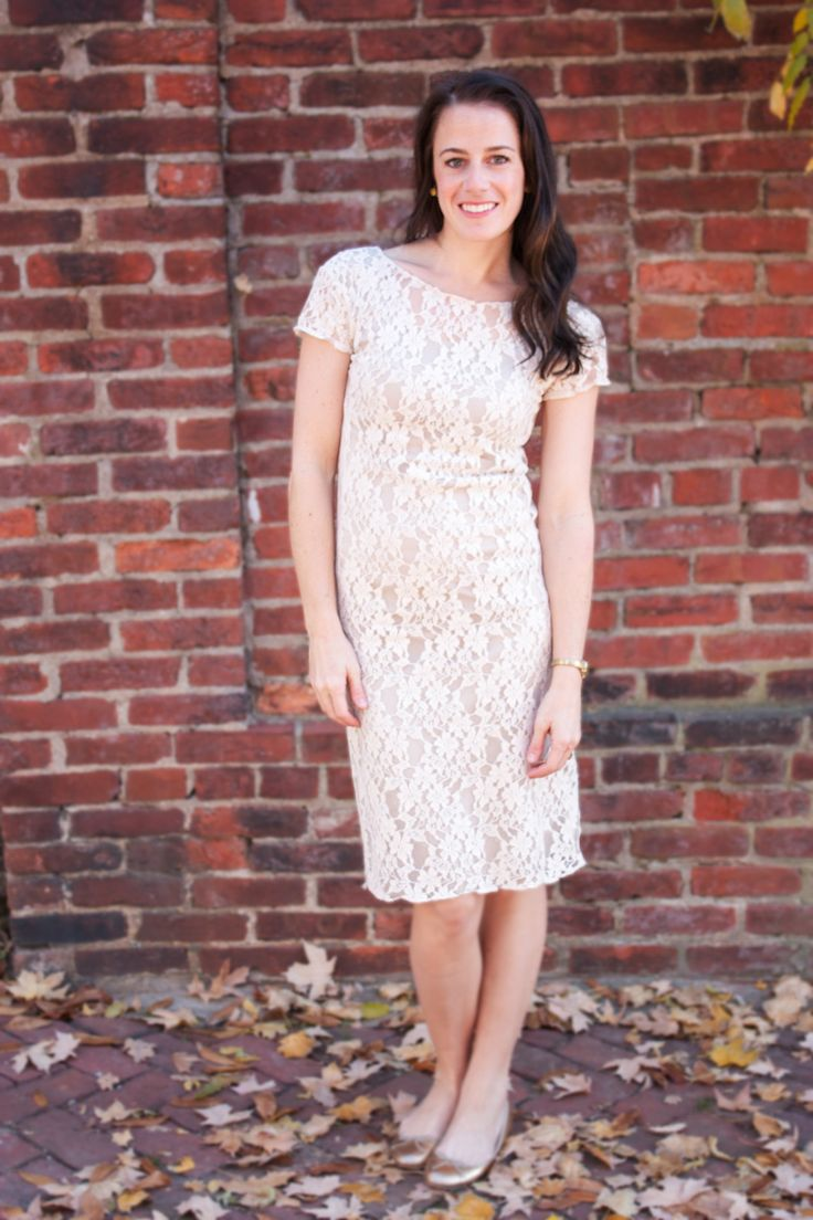 For Savannah!  Nude Lace Overlay Dress by One Little Minute Ivory Lace Overlay Dress + Thanksgiving 2012