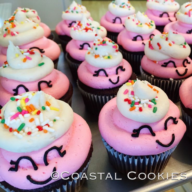 Shopkins cupcakes for a birthday party!