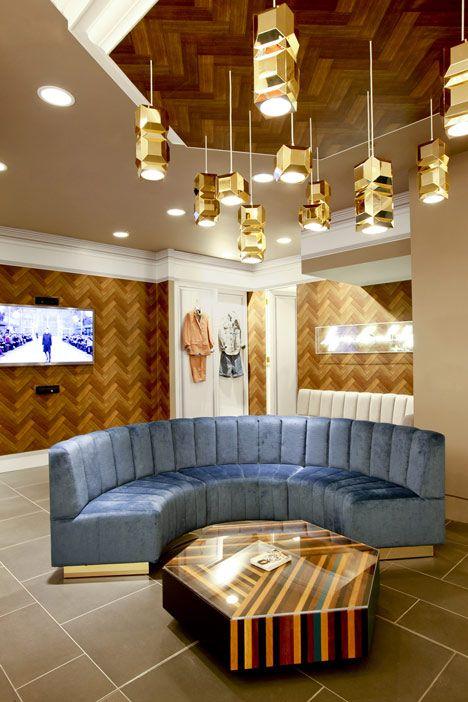 Topman personal shopping suite by Lee Broom (little bit Tom Dixon/Design Research Studio copy cat?!)