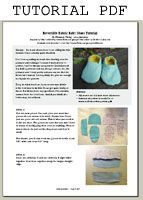 Tutorial for Reversible Fabric Baby Shoes