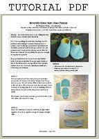 reversible fabric baby shoe tutorial pdf