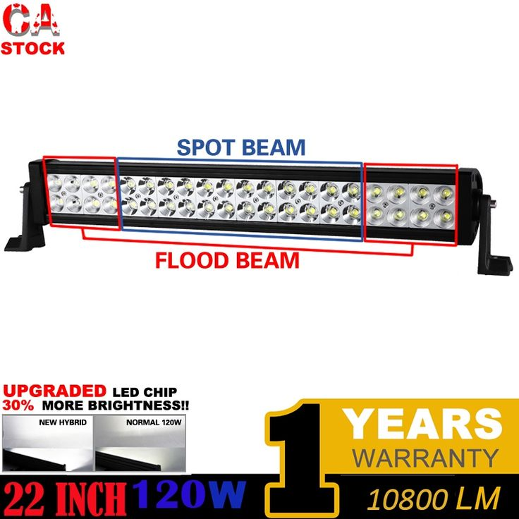 "48.98$  Watch now  - ""Canada warehouse 22"""" 120W LED Light Bar for Off Road Indicators Work Driving Offroad Boat Car Truck 4x4 SUV ATV Fog Combo 12V"""