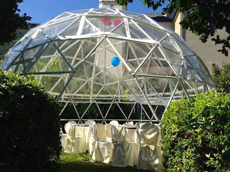 """#Cupola Geodetica #Crystal utilizzata come """"Kids Area"""" durante un matrimonio: uno spazio dedicato ai giochi e alla festa per gli ospiti più piccoli! #fun #party #wedding #kids #LerianSrl"""