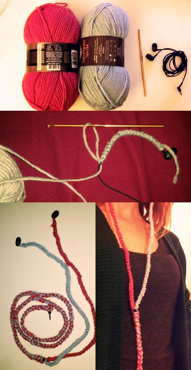 headphones for winter :) no more tangles! //kışlık kulaklık. üstelik cebimde birbirine dolaştı sorunu yok :)