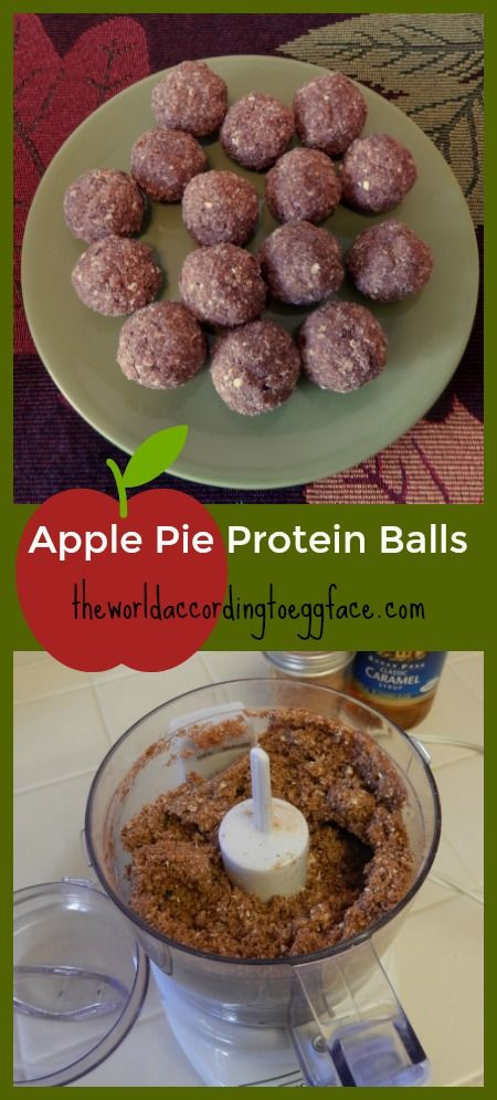 Eggface Healthy Snacks: Apple Pie Protein Balls -   They taste like Fall!   Weight Loss Bariatric Surgery Health Fitness Diabetic Protein Low Carb Recipes