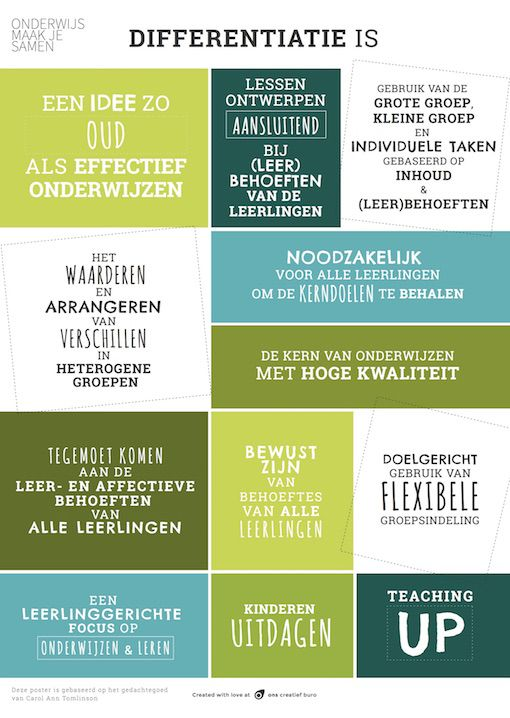 """Differentiatie is..."" Prikkelende Poster"