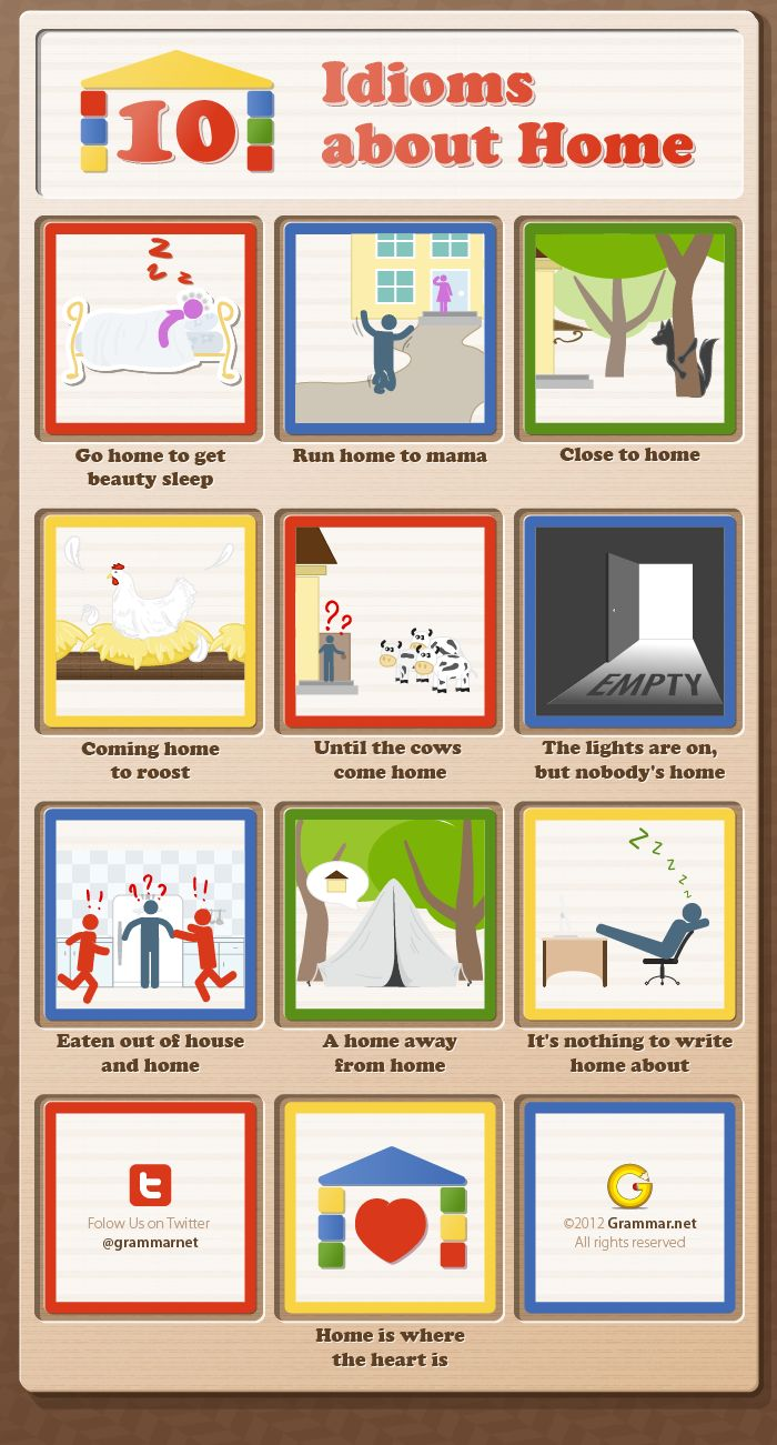 10 Idioms about Home [infographic]
