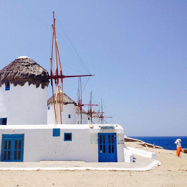 Mykonos island (Μύκονος). The famous Cycladic windmills ! Enjoy the impressive White & Blue (Double Tap it).