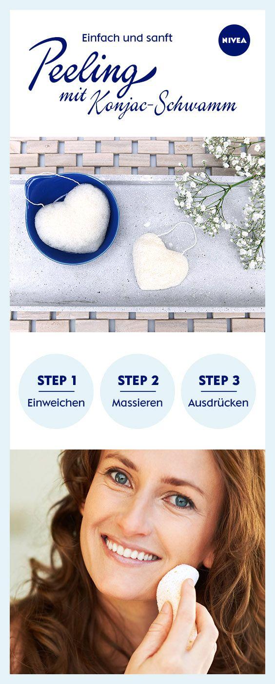 Gründlich, aber sehr sanft: Der Konjac-Schwamm ist der ideale Pflege-Allrounder für die tägliche Gesichtsreinigung mit Peeling-Effekt. Einfach ausprobieren ...