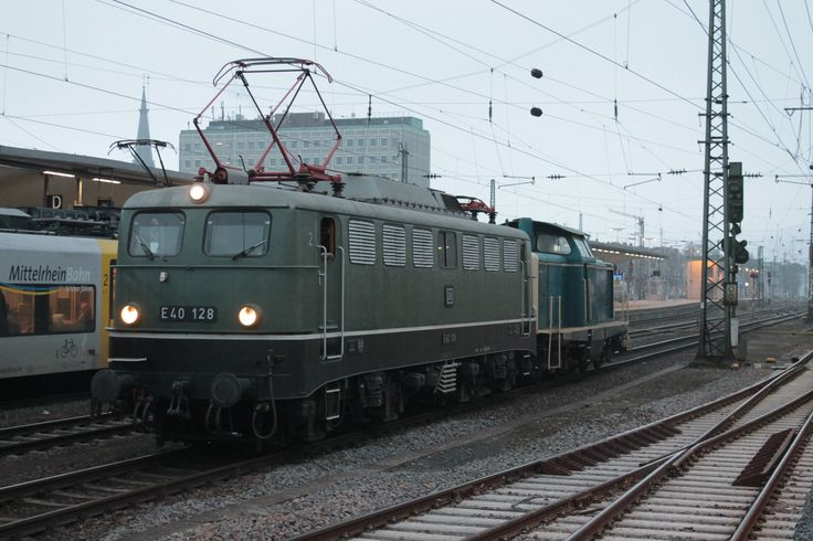 2014.12.06. Die Museumslok E40 128 in Koblenz Deutsche