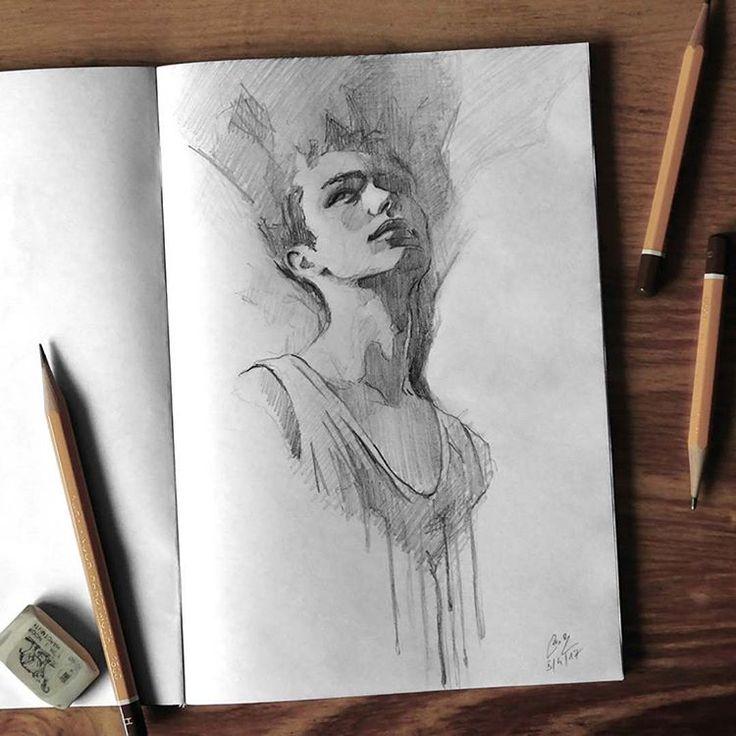 "Páči sa mi to: 6,500, komentáre: 25 – Miroslav Zgabaj (@miro_z_art) na Instagrame: ""Sketchbook  #face #portrait #sketch #sketchbook #paper #pencils #pencil #drawing #pencilsketch…"""