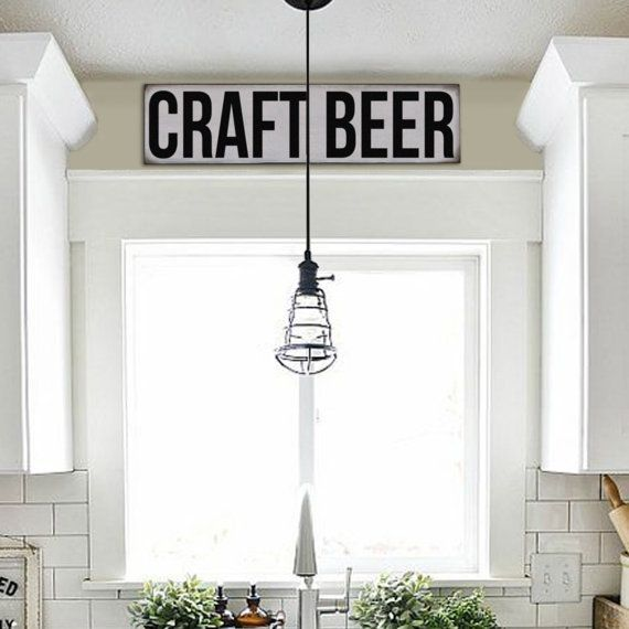 Farmhouse Sign, Rustic Sign, Vintage Inspired Sign, Subway Sign, Craft Beer Sign, Reproduction Sign, Farmstand Sign, Kitchen Signs