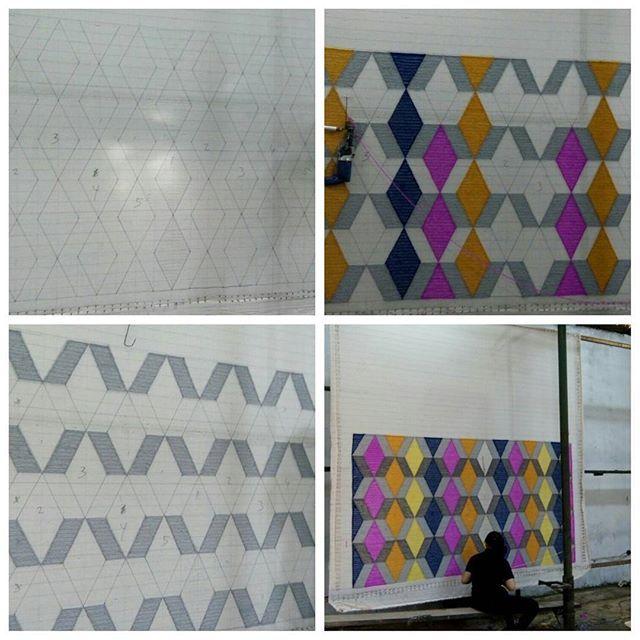 In the making Geometric Pattern Area Rugs 2,6 M x 1,4 #arearugs #carpet #rugs #inthemaking #homedecor #homeinterior #interiordesign #design interior #jualkarpet #bikinkarpet#customrug #indo #bdg #localcreative #design #handtufted #acrylic