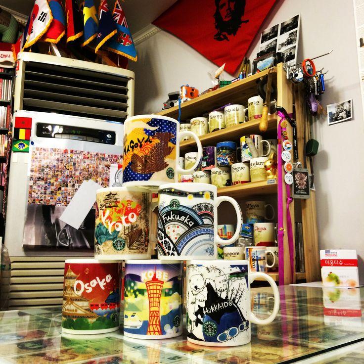 [JAPAN Style] STARBUCKS City Mug.  Nagoya, Kyoto, Fukuoka, Osaka, Kobe, Hokkaido.  #kelly #일본머그예쁘다! #선물열배로갚겠음