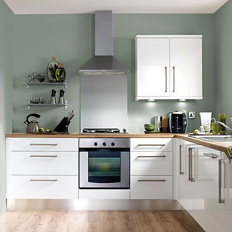 20 best ideas about green kitchen walls on pinterest for White high gloss kitchen wall units
