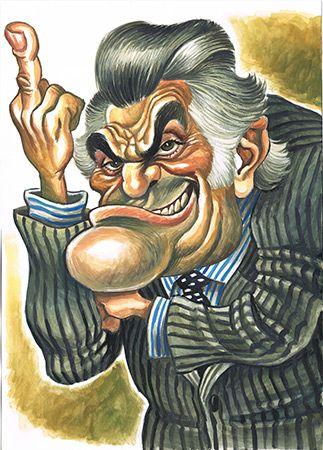 Caricatura de Luis Barcenas