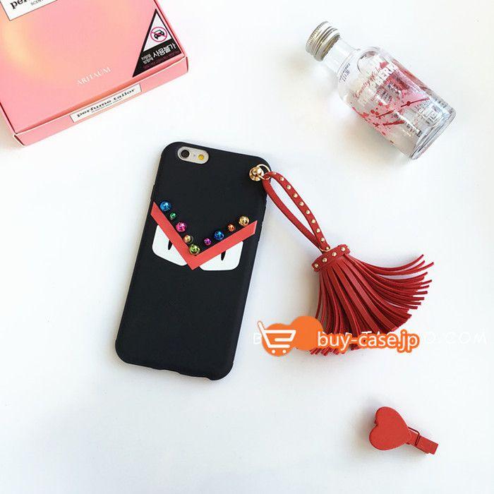 アイフォン6ケースiPhone7/8携帯カバー欧米ゴージャス豪華風Fendiリベット付き