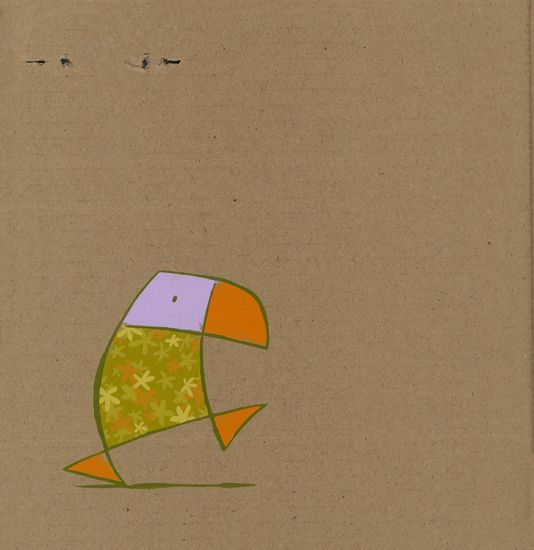 Hawaï duikertje / Hawaï puffin -      22 x 22 cm -   acrylverf op karton /   acrylic on cardboard -   2008 - verkocht / sold