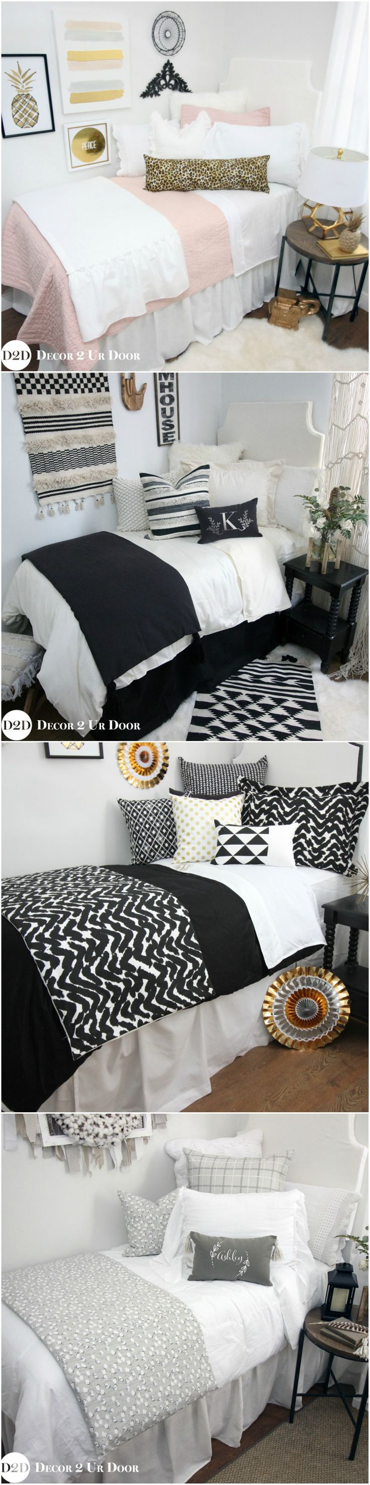 Shop our trendy apartment bedding and décor by collection. Adulting is hard - apartment bedding and decor shouldn't have to be! Shop our apartment bedding by collection - color, trend, or separates. Make your apartment feel like home. Apartment bedding is available in all bed sizes: Twin, Full, Queen, and King. We've taken all of the guess work out of designing your apartment bedroom.