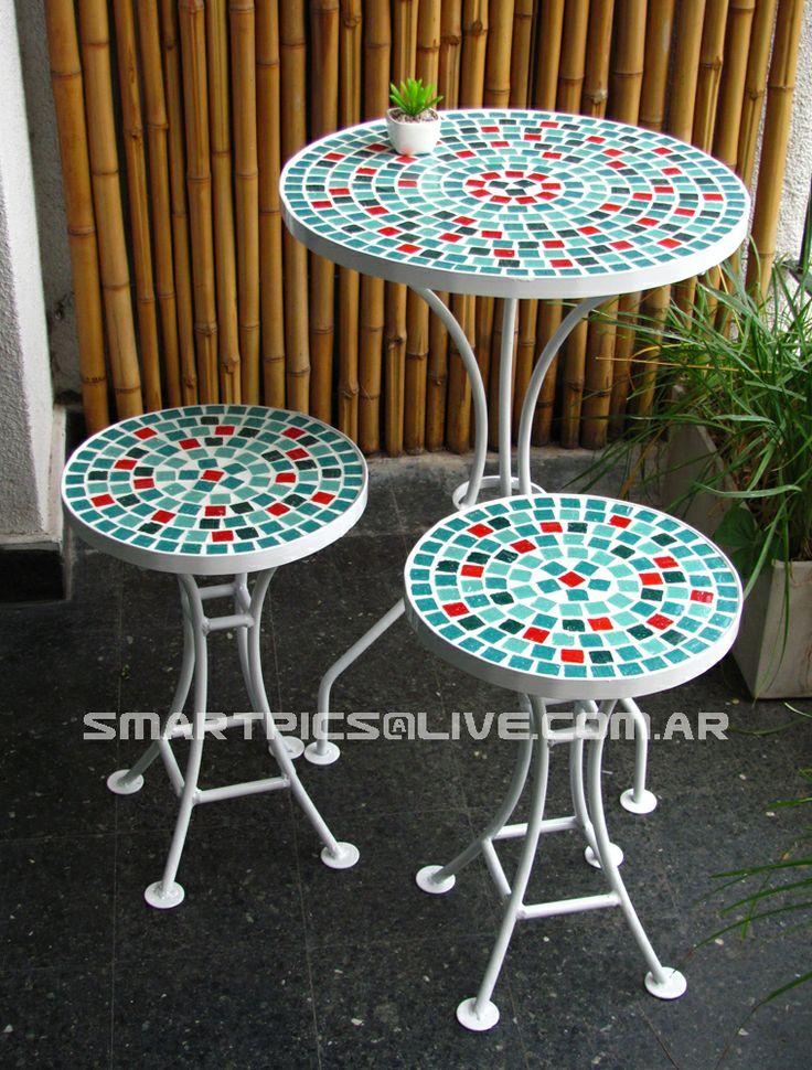 Mejores 25 imágenes de Mesas con venecitas y sillas de hierro en ...