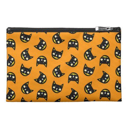 Halloween Black Cat Travel Accessory Bag