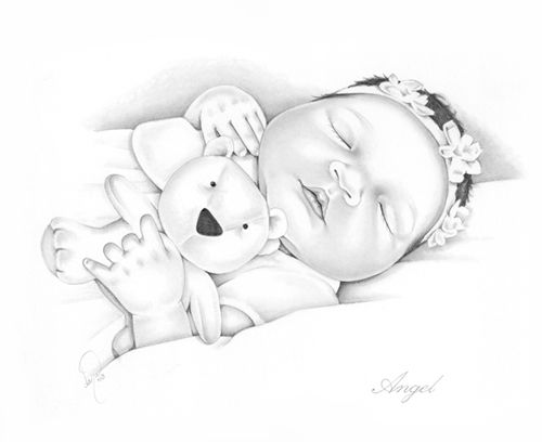 Infant Loss Remembrance Pencil Portraits Coloring SheetsColoring