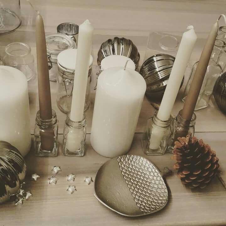 Christmas 2015... work in progress  #christmas #christmas2015 #hmhome #pigna #ghianda #silver #candles #stars #nordicstyle