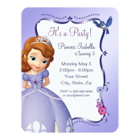 Sofia the First Birthday Invitation - click to get yours right now!