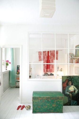 Scandinavian home / interior window.