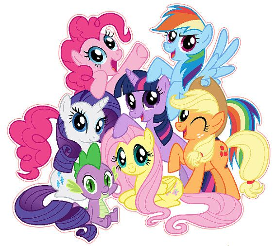 My Little Pony Friendship is Magic Group Shot by KewlWallStickers