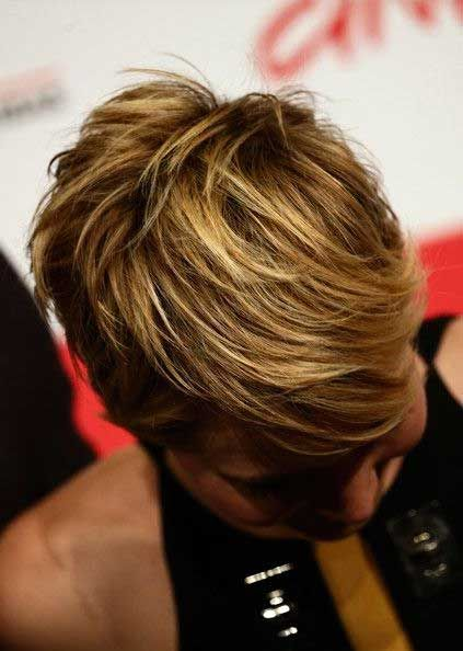 Top view of Jennifer Lawrence's pixie (not a view you see very often)