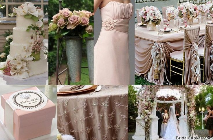 very nice pink and champagne