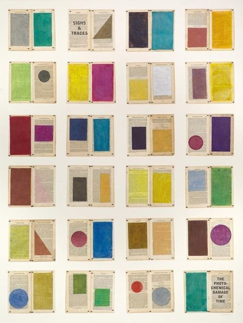 WILLIAM KENTRIDGE Colour Chart, 2013 Charcoal and pencil on book pages 59 2/5 × 44 1/10 in 151 × 112 cm Goodman Gallery