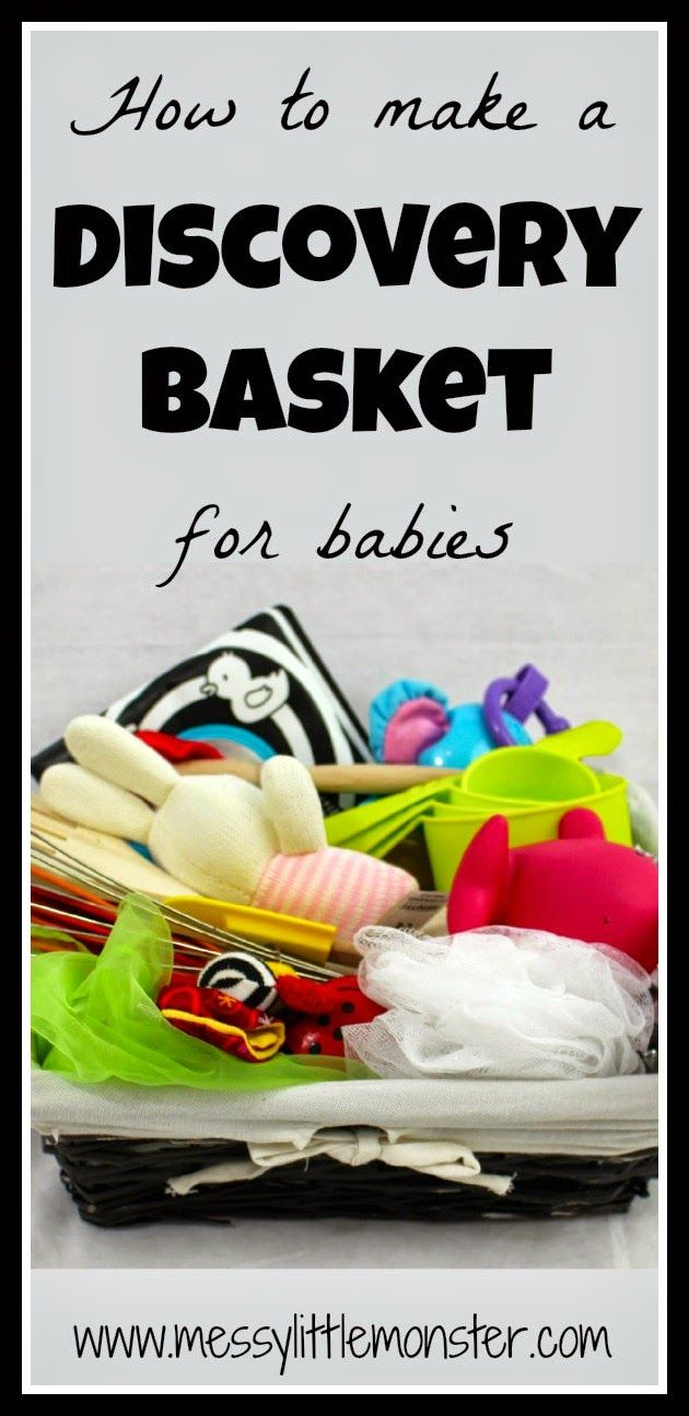 Messy Little Monster: Baby Activities: How to make a Discovery (treasure) Basket