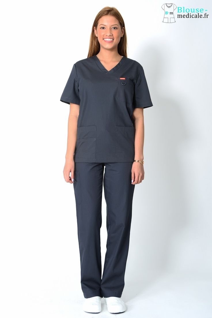 tenue médicale unisexe Orange grise