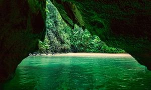 The 'emerald cave' on Koh Mook