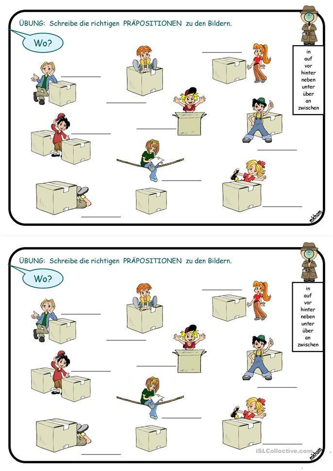 93 best Präpositionen images on Pinterest | Speech language therapy ...