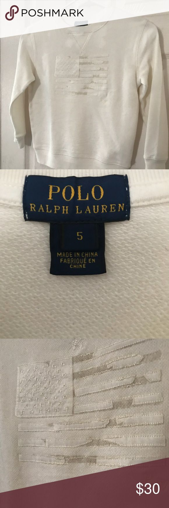New Boy's Polo Ralph Lauren Sweatshirt Size: 5 New Boy's Polo Ralph Lauren Sweatshirt Size: 5. Orig. $49 Polo by Ralph Lauren Shirts & Tops Sweatshirts & Hoodies