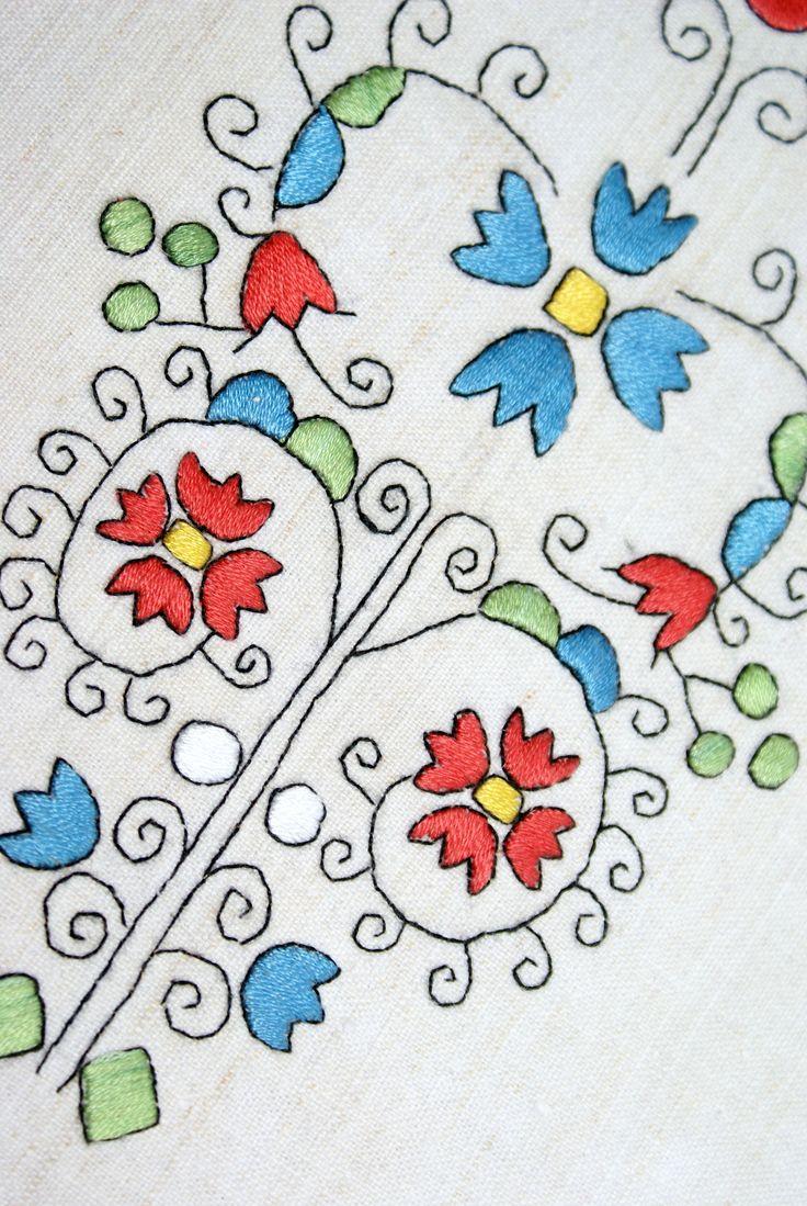"Hungarian folk embroidery ""Sárköz"""