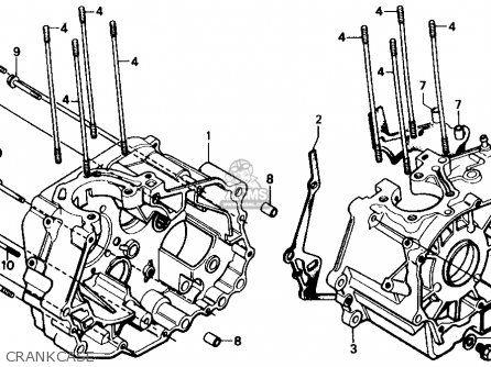 Honda Cmx250c Rebel 1986 g Usa Crankcase                                                                                                                                                                                 More